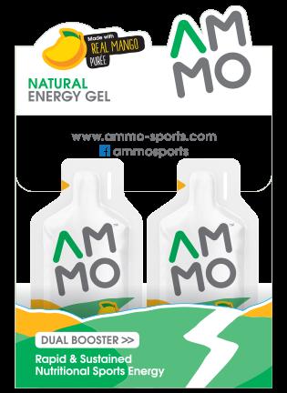 Natural Energy Gel MANGO PUREE 12 Sachets